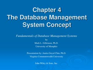 Chapter 4 The Database Management System Concept