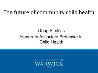 The future of community child health