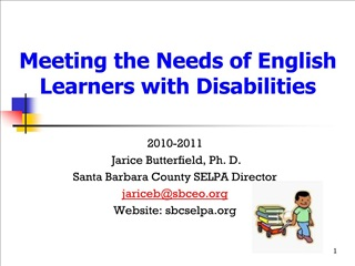 Meeting the Needs of English Learners with Disabilities