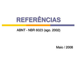 REFER NCIAS