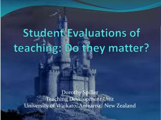 Student Evaluations of teaching: Do they matter?