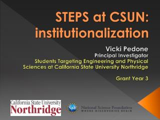 STEPS at CSUN: institutionalization