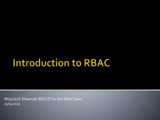 Introduction  to  RBAC