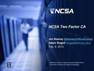 NCSA Two Factor CA