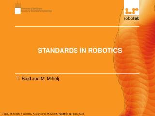 STANDARDS IN ROBOTICS