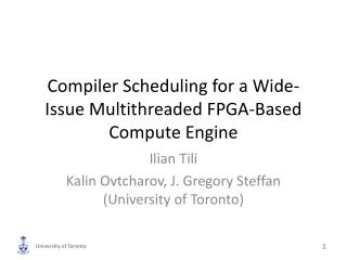 Compiler Scheduling for a Wide-Issue Multithreaded FPGA-Based Compute Engine