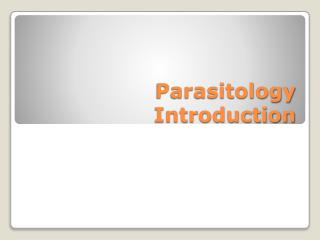 Parasitology Introduction