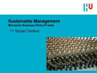 Sustainable Management Metropolia Business Ethics IP week