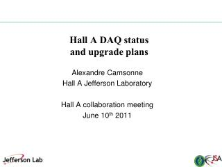 Hall A DAQ status and upgrade plans