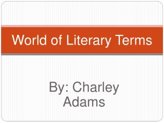 World of Literary Terms