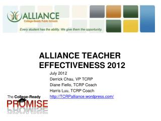 Alliance  Teacher effectiveness 2012