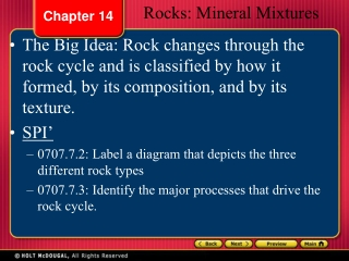 Chapter 7   Metamorphism  Metamorphic rocks