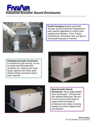 Industrial Acoustic Sound Enclosures