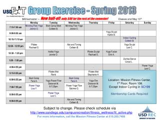 Group Exercise - Spring 2013