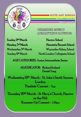 Sunday 9 th March North London Collegiate School