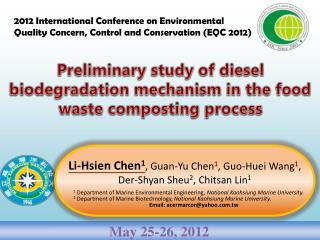 Preliminary study of diesel biodegradation mechanism in the food waste composting process