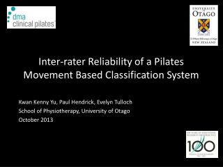 Inter-rater Reliability of a Pilates  Movement Based Classification System