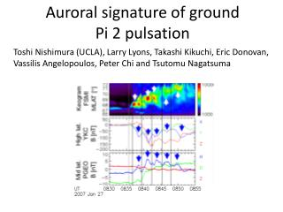 Auroral signature of ground Pi 2 pulsation