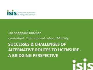 Successes & Challenges of Alternative Routes to Licensure -  A Bridging Perspective