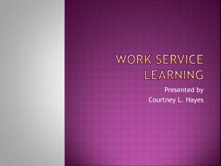 Work Service Learning
