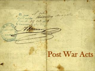 Post War Acts