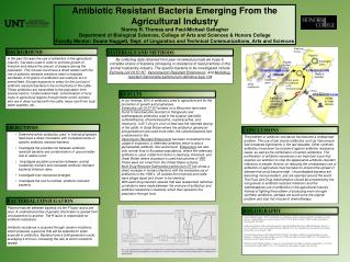 Antibiotic Resistant Bacteria Emerging From the Agricultural Industry