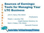 Sources of Earnings: Tools for Managing Your LTC Business