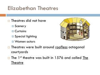 Elizabethan Theatres