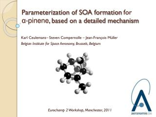 Parameterization of SOA formation  for  α- pinene , based on a detailed mechanism