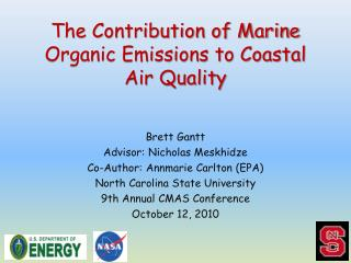 The Contribution of Marine Organic Emissions to Coastal Air Quality