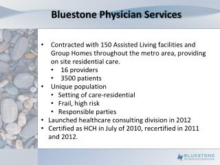 Bluestone Physician Services
