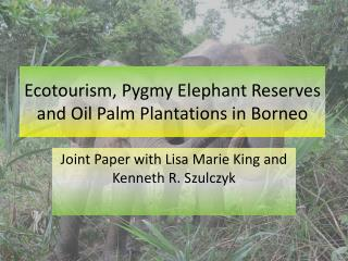 Ecotourism, Pygmy Elephant Reserves and Oil Palm Plantations in  Borneo