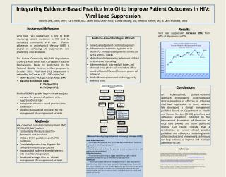 Integrating Evidence-Based Practice Into QI to Improve Patient Outcomes in HIV: