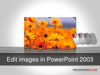 Edit images in  PowerPoint 2003