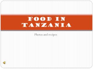 Food in  tanzania