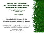 Analog FFT Interface  for Ultra-Low Power Analog Receiver Architectures