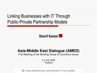 Linking Businesses with IT Through  Public-Private Partnership Models