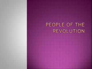 People of the revolution