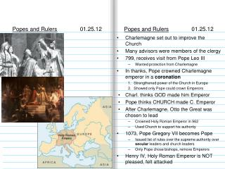 Popes and Rulers	 	01.25.12