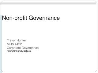 Non-profit Governance