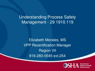 Understanding Process Safety Management - 29 1910.119