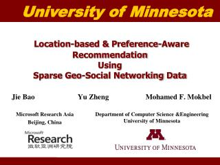 Location-based & Preference-Aware Recommendation  Using  Sparse Geo-Social Networking Data