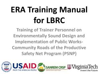 ERA Training Manual for LBRC