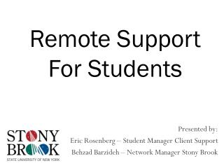 Remote Support For Students