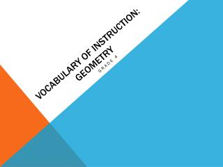 Vocabulary of Instruction: Geometry