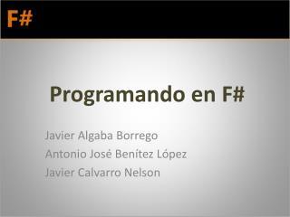 Programando en F#