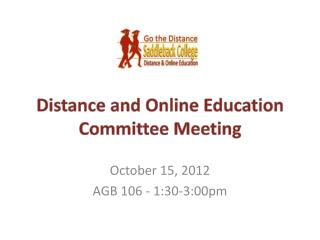 Distance and Online Education Committee Meeting