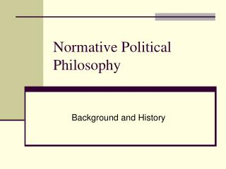 Normative  Political Philosophy