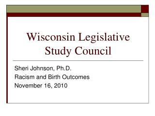 Wisconsin Legislative Study Council