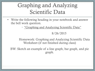 Analyzing Scientific Data